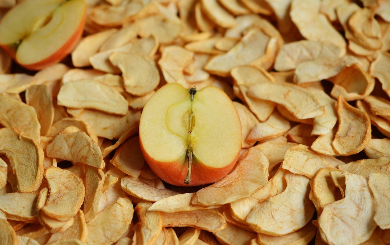 Manzana deshidratada para cocina