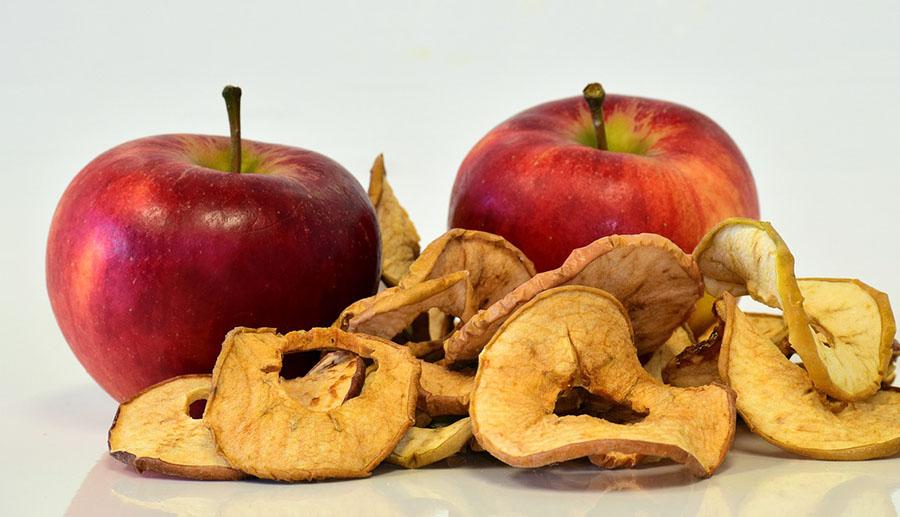 Manzana deshidratada industria alimentaria