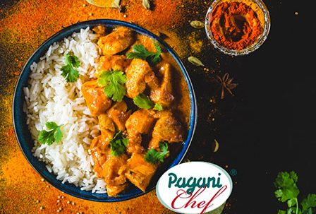Receta pollo al curry con arroz marinada La Orientale