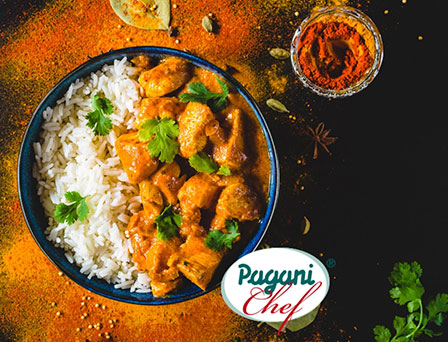 Receta pollo al curry con arroz marinada La Orientale